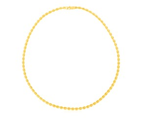 14K Yellow Gold Polished Link Necklace