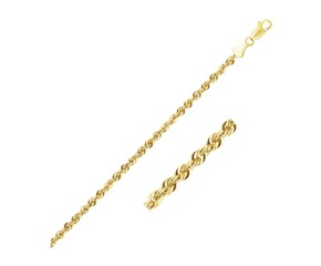 Light Rope Chain in 14k Yellow Gold (2.5 mm)