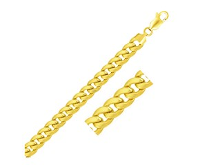 Light Miami Cuban Chain in 10k Yellow Gold (9.3mm)