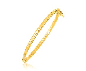 Twisted Style Children's Bangle in 14k Yellow Gold