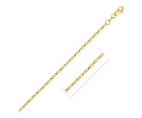 Diamond Cut Fancy Links Pendant Chain in 14k Yellow Gold (1.5mm)