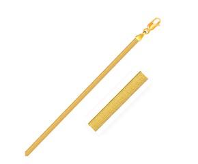 Super Flex Herringbone Bracelet in 14k Yellow Gold (3.0 mm)