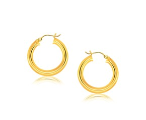 Classic Hoop Earrings in 14k Yellow Gold (30mm Diameter) (5.0mm)