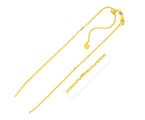 Adjustable Cable Chain in Yellow Finish Sterling Silver (1.5mm)