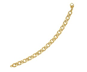Diamond Cut Curb Chain Bracelet in 14k Yellow Gold
