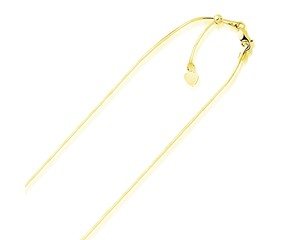 Adjustable Snake Chain in 14k Yellow Gold (.85mm)