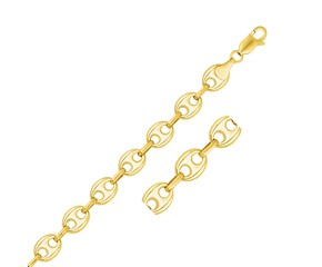 Puffed Mariner Bracelet in 14k Yellow Gold (11.0mm)