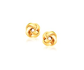 Classic Love Knot Stud Earrings in 14k Yellow Gold