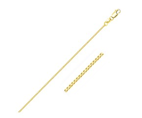 Box Chain in 18k Yellow Gold (0.8 mm)