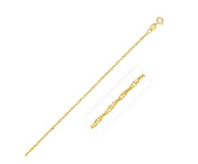 Singapore Anklet in 10k Yellow Gold (1.5 mm)