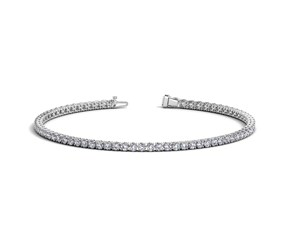 Round Diamond Tennis Bracelet in 14k White Gold (2 cttw)
