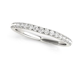 14K White Gold Curved Style Diamond Wedding Ring (1/3 ct. tw.)