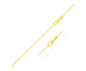 Double Extendable Diamond Cut Cable Chain in 14k Yellow Gold (0.8mm)