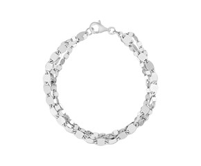 Sterling Silver Three Strand Marina Link Bracelet
