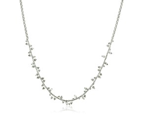 Sterling Silver 18 inch Leaf Motif Chain Necklace