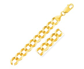 Solid Curb Chain in 14k Yellow Gold (12.18mm)
