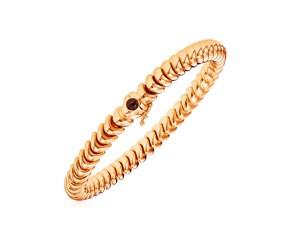 14k Rose Gold 7 1/2 inch Dragon Link Bracelet with Blue Sapphire