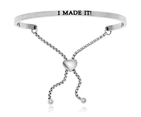 Stainless Steel I Made It Adjustable Bracelet