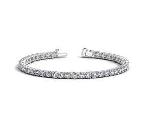 Round Diamond Tennis Bracelet in 14k White Gold (10 cttw)