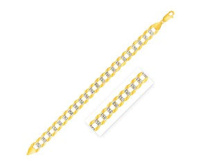 Pave Curb Chain in 14k Two Tone Gold (11.23 mm)