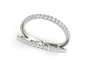 Split Band Design Diamond Embellished Ring in 14K White Gold (1/4 ct. tw.)
