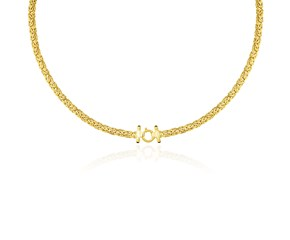 Fancy Byzantine Design Necklace in 14k Yellow Gold