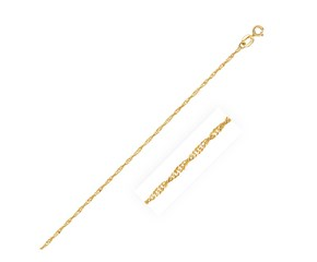 Singapore Bracelet in 14k Yellow Gold (1.0mm)