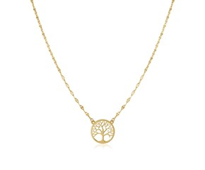 14K Yellow Gold Tree of Life Necklace
