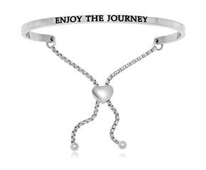 Stainless Steel Enjoy The Journey Adjustable Bracelet