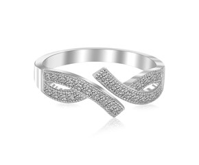Marquise Motif Cubic Zirconia Accented Toe Ring in Rhodium Plated Sterling Silver