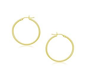 Classic Hoop Earrings in 10k Yellow Gold (30mm Diameter) (2.0mm)