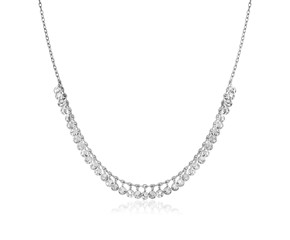 Sterling Silver 16 inch Necklace with Textured Beads