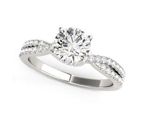 14K White Gold Fancy Prong Split Shank Diamond Engagement Ring (1 1/4 ct. tw.)