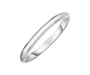 Shiny Bangle in Sterling Silver
