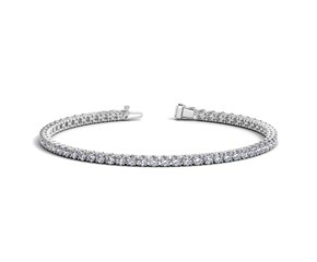 Round Diamond Tennis Bracelet in 14K White Gold (4 ct. tw.)