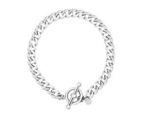 Sterling Silver Polished Wide Link Toggle Bracelet