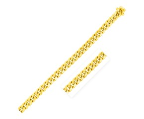 Semi Solid Miami Cuban Chain in 14k Yellow Gold (6.9mm)