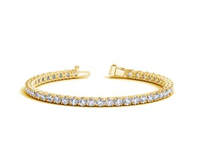 Round Diamond Tennis Bracelet in 14k Yellow Gold (10 cttw)