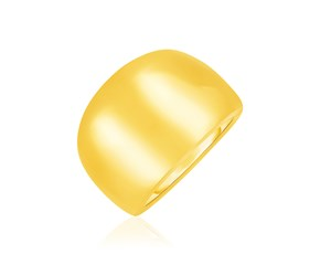 14k Yellow Gold Large Polished Dome Ring