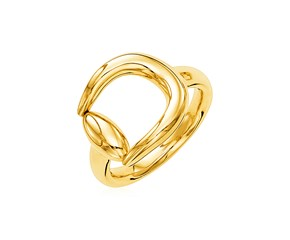 14k Yellow Gold Polished Equestrian Motif Ring