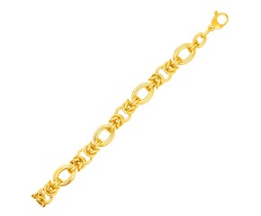 14k Yellow Gold Chainmaille Motif Bracelet
